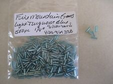"Fire Mountain Gems & Beads 1/4"" Bugle Beads (500 PC) Sliver Lined Lt. Turquoise"