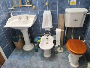 BC Sanitan Victorian style bathroom suite (, Bidet, Sink), used