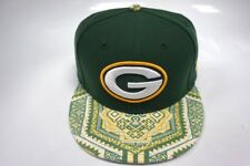 Green Bay Packers New Era 9Fifty Snapback Hat Tribal Brim Size M/L