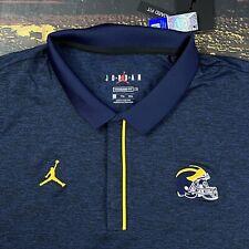 NWT $80 Mens XXL Nike Air Jordan Michigan Wolverines Blue Golf Polo Shirt 2XL