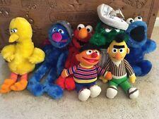 Lot 7 BIG BIRD SUPER GROVER COOKIE MONSTER Elmo Bert Ernie Oscar SESAME STREET