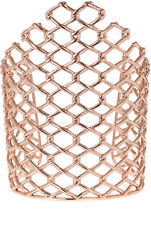 NEW Alexis Bittar Pink Rose Goldtone Barbed Link Cuff Bracelet