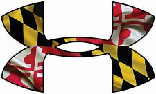 """Under Armour Maryland Flag Car/Window Decals Stickers- 11.5"""" x 7"""" .."""