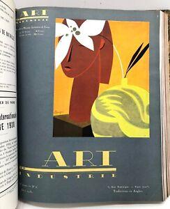 Revue mensuelle ART ET INDUSTRIE année 1930 COMPLET 12 N° reliés ART DÉCO rare
