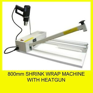 800mm Shrink Wrap Machine with Heatgun and Roll Dispenser Brand New