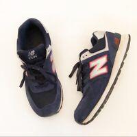 New Balance Men's Navy Blue 574 Essentials Sneakers