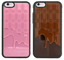 silicone bumper and hard plastic case,cover,milky chocolate bar,sweet design
