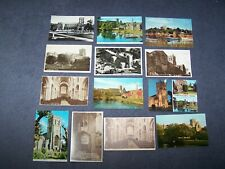 13 postcards  of Christchurch Priory, Hampshire  -  9 blank, 4 posted.