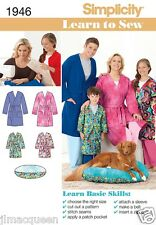 Simplicity Easy SEWING PATTERN 1946 Childs/Teens/Adults Robe & Pet bed
