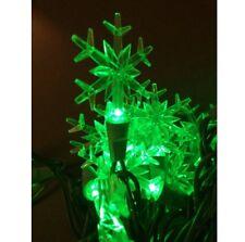 50er LED motivo Guirnalda de luces Copo Nieve 5m interior Navidad Árbol Verde