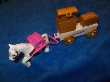 LEGO DUPLO SCHLOSS PRINZESSIN RITTERBURG GROSSE KUTSCHE + Pferd Weiss aus