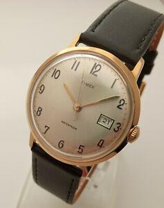 Timex watch mechanical gold