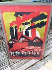 affiches soviétiques originales  / travail / communisme / URSS / CCCP Soviet