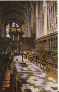 Cambridgeshire Postcard - King's College Chapel - Choir Looking West  Ref TZ5870