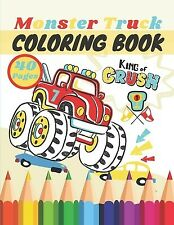 Monster Truck Coloring Book: A Big Cool Car Designs Awesome Colle by Rider, Mih