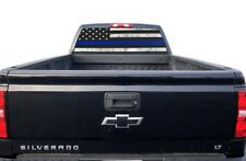 Truck Rear Window Decal Thin Blue Line Police Cops USA American Flag Vinyl Wrap