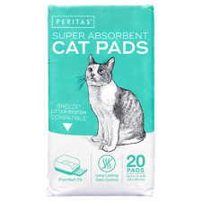 20ct Peritas Cat Pads Breeze Tidy Cats Litter Pads Box System Refills Liner