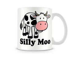 Fun_221 Silly Moo Funny gift printed mugs cup birthday