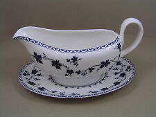ROYAL DOULTON YORKTOWN SMOOTH GRAVY BOAT AND SAUCER.