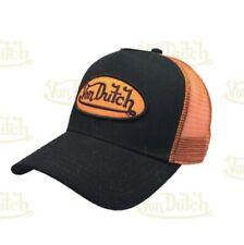 Von Dutch Baseball Cap Black Curved Peak Trucker Adjustable Mesh Snapback Hat