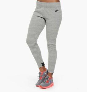 NIKE NEW Womens Tech Fleece Pants Skinny Legging Jogger Striped Heather Gray S