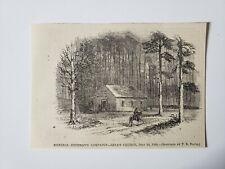 Battle of Ezra Church General Sherman 1864 Civil War Sketch Print