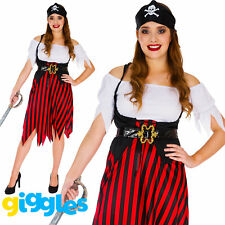 Adult Pirate Wench Womens Costume Buccaneer World Book Day Week Fancy Dress New