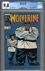 Wolverine #8 CGC 9.8 NM/MT Hulk Appearance Iconic Cover WHITE PAGES