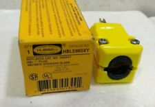HUBBELL WIRING DEVICE-KELLEMS HBL5965VY 3 Wire Commercial Straight Blade Plug
