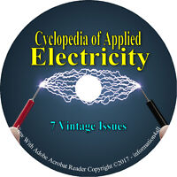 7 Electric Volume Book Set on CD, Cyclopedia of Applied Electricity