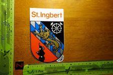 Alter Aufkleber Reise Stadt ST. INGBERT Wappen