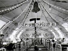 "*Postcard-Christmas-""Merry Christmas Banner...in Military Hospital Ward- (B-208)"