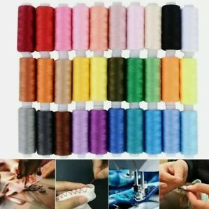 30Colors 250Yards Polyester Sewing Thread Spools For Sewing Machine Line Tool UK