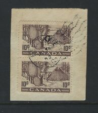 CANADA - #O26a - 10c FUR DRYING SKINS USED PAIR MISSING G VARIETY