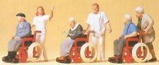 H0 Preiser 10479 Transeúntes, sillas de ruedas. figuras. EMB.ORIG
