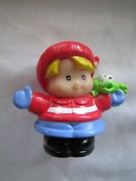 Fisher Price Little People CHRISTMAS WINTER HOLIDAY EDDIE Boy w/ FREDDIE Rare!