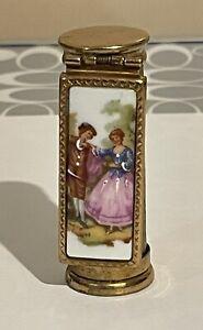 Vintage Antique Lipstick Case Holder w/Mirror - Brevete SGDG LCS Paris France