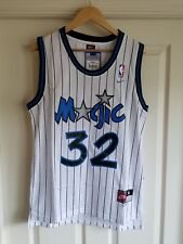 NWT Shaquille Shaq O'neal Orlando Magic White Throwback Jersey SMALL SEWN