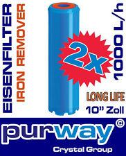 2 x PFEX IRON REMOVER STRONG Eisenfilter Eisenwasserfilter Enteisenung Filter