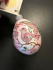 Patricia Breen Grande Surprise Egg - Bijoux Pink Bird - Peachtree Excl. Sold Out