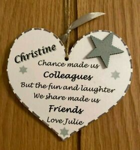 FRIEND COLLEAGUE Gift Personalised Plaque RETIREMENT Leaving Office Birthday