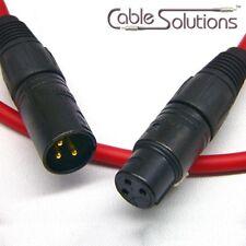 Canare L-4E6S Balanced XLR Audio Interconnect Cable 10m, Red