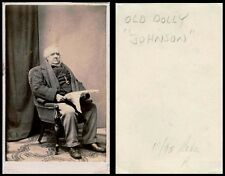 ca 1870s CDV PHOTO PORTRAIT OF AN OLD MAN HOLDING NEWSPAPER