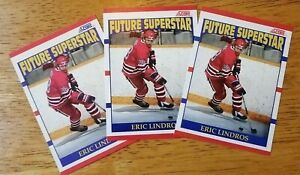 "Lot of 3! ERIC LINDROS ""Future Superstar"" Rookie Cards RC 