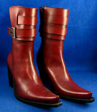 Sartore Oxblood Leather Boot with Bucklet Size 36 1/2 New Condition