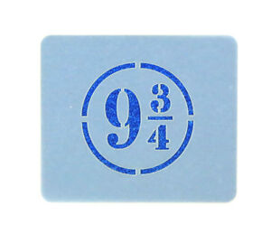Platform 9 and 3/4 Crafting Card Making Face Painting Stencil 7cm x 6cm Reusable