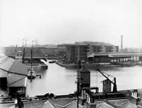 OLD TRAIN PHOTO The London North Western Railways Goods Depot At Poplar Docks 2