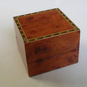 Quality Luxury Wooden Walnut Finish Jewellery Presentation Ring Box ~ New