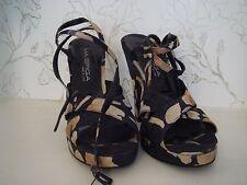 Via Spiga Women's Floral Platform Sandals Heels Canada Size 8 Made in Italy