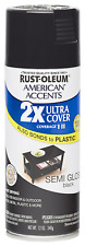 Rust Oleum 280721 American Accents Ultra Cover 2X Spray Paint, Semi-Gloss Black
